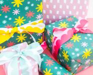 Custom Printed Gift Wrap and Ribbon