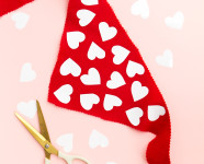 DIY Valentine's Day Heart Dog Scarf