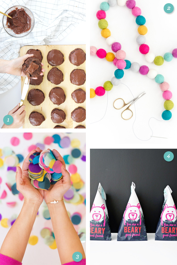 Add color and sweets to your new year with these fun DIY projects, printables and recipes! (Click through for links to each one)
