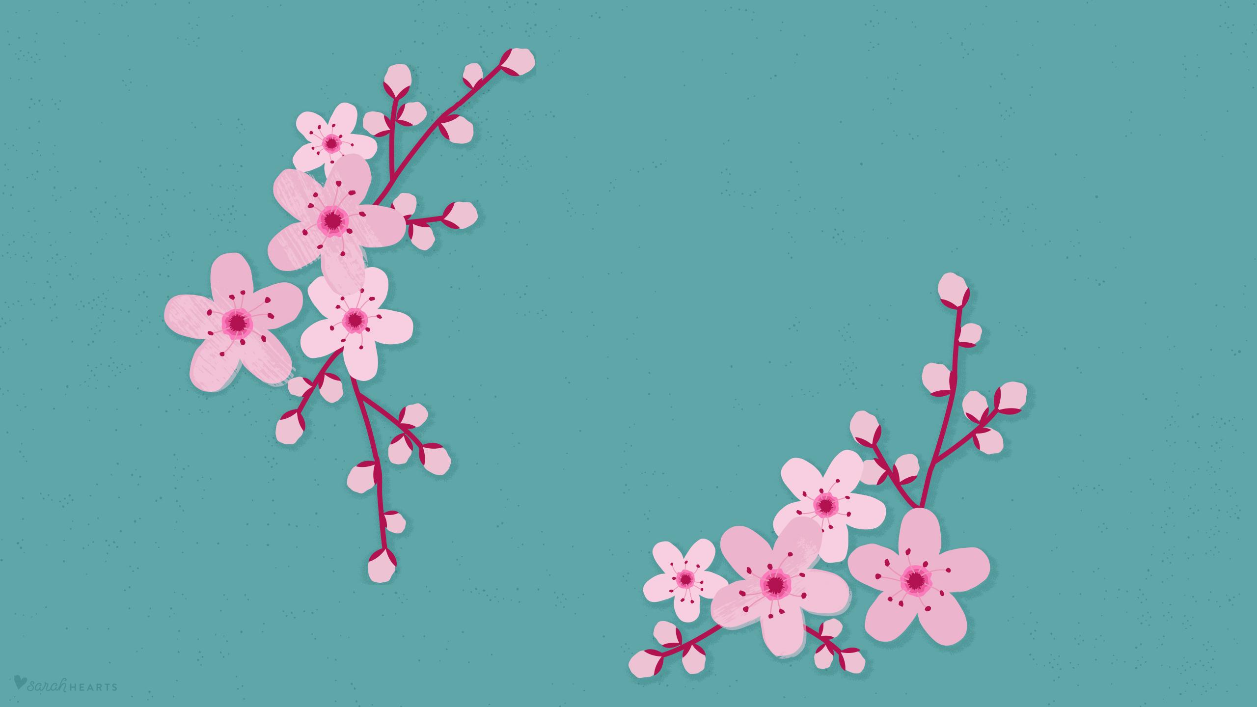 March 2016 Cherry Blossom Calendar Wallpaper - Sarah Hearts