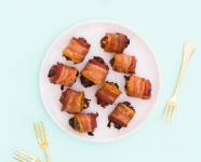 Goat Cheese Bacon Wrapped Dates