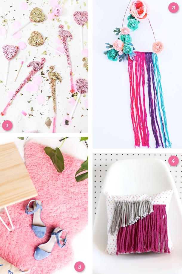Add some pink to your home with one of these fun DIY projects! (Click through for links to each one)