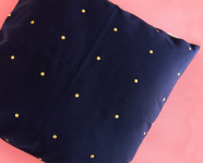 DIY Gold Stud Throw Pillow
