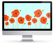 April 2016 Poppy Calendar Wallpaper