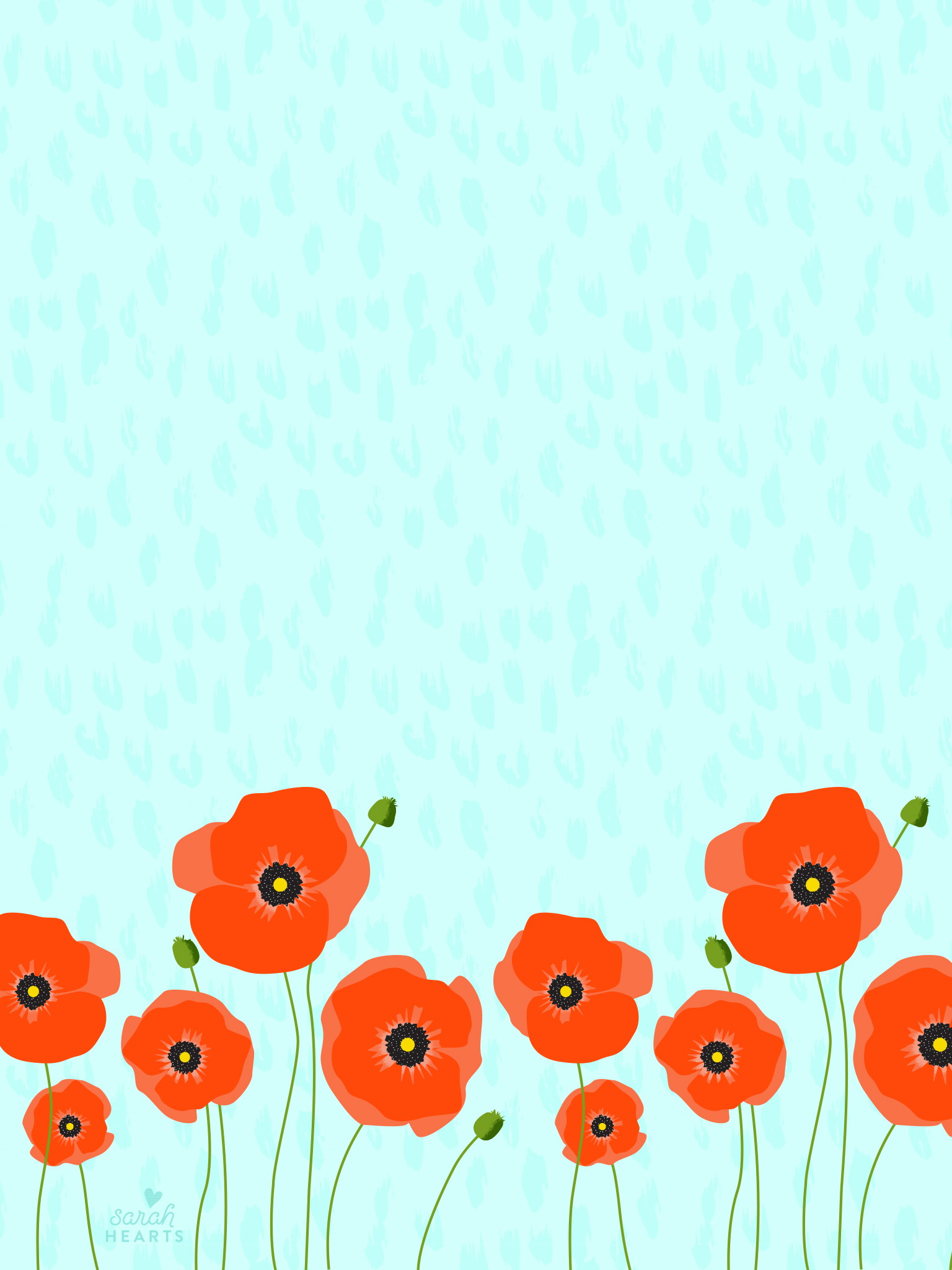 April 2016 poppy calendar wallpaper sarah hearts for Terengganu home wallpaper 2016