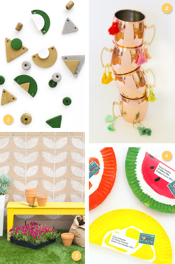 Get ready for summer! Try one of these fun and easy DIYs (click through for direct links to each project)!