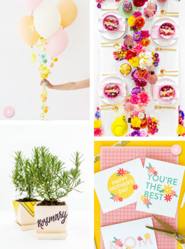 Decorate your home for a beautiful Mother's Day brunch! Click through for all these adorable and easy to make DIY projects.