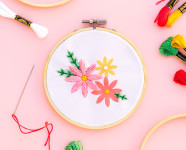 DIY Mother's Day Printable Embroidery Gift