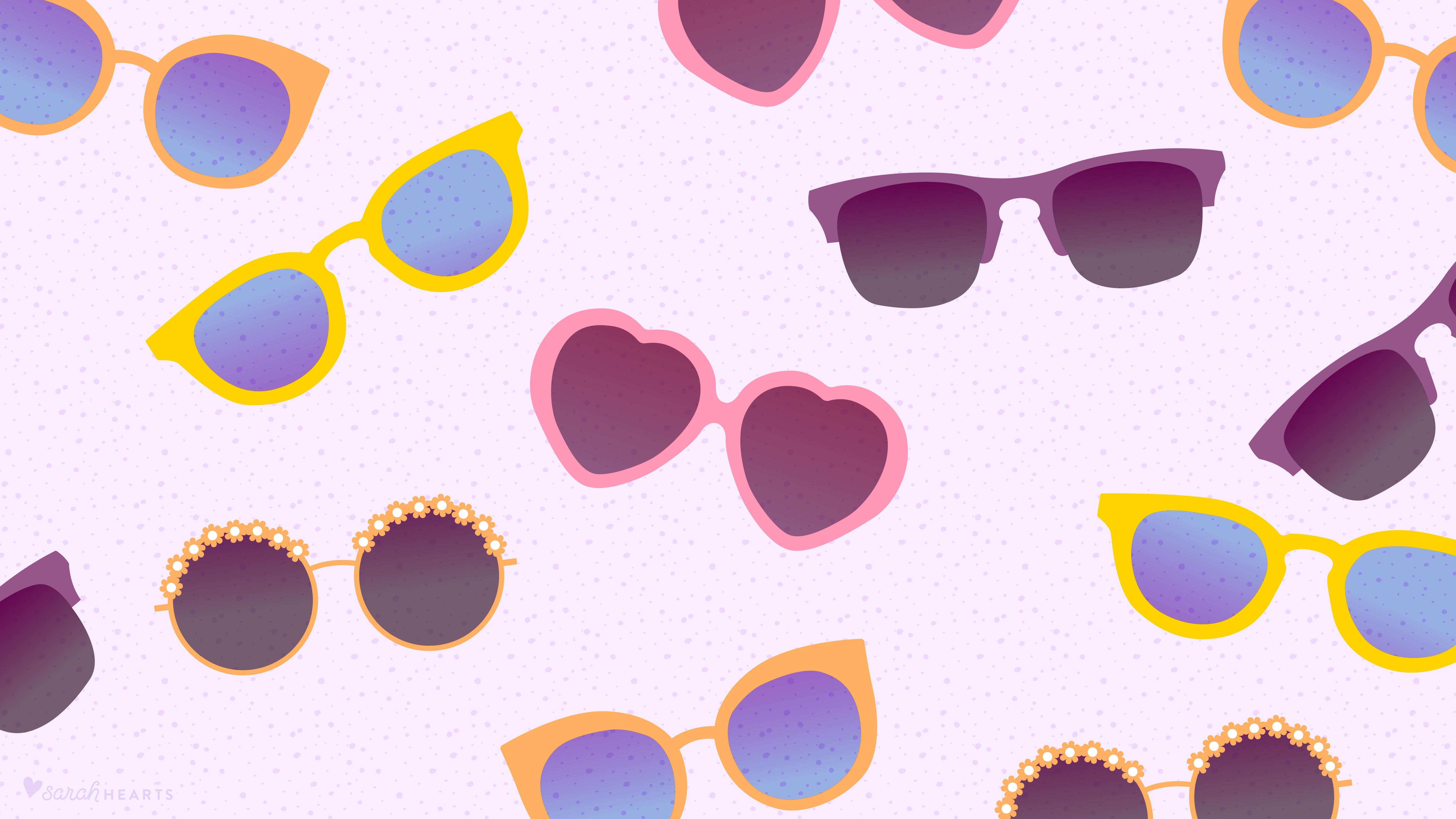 june 2016 sunglasses calendar wallpaper