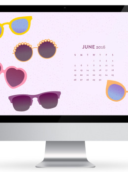 And some shades to your computer, phone or tablet with this cute free sunglasses wallpaper! Features a June 2016 calendar so you always have it handy.
