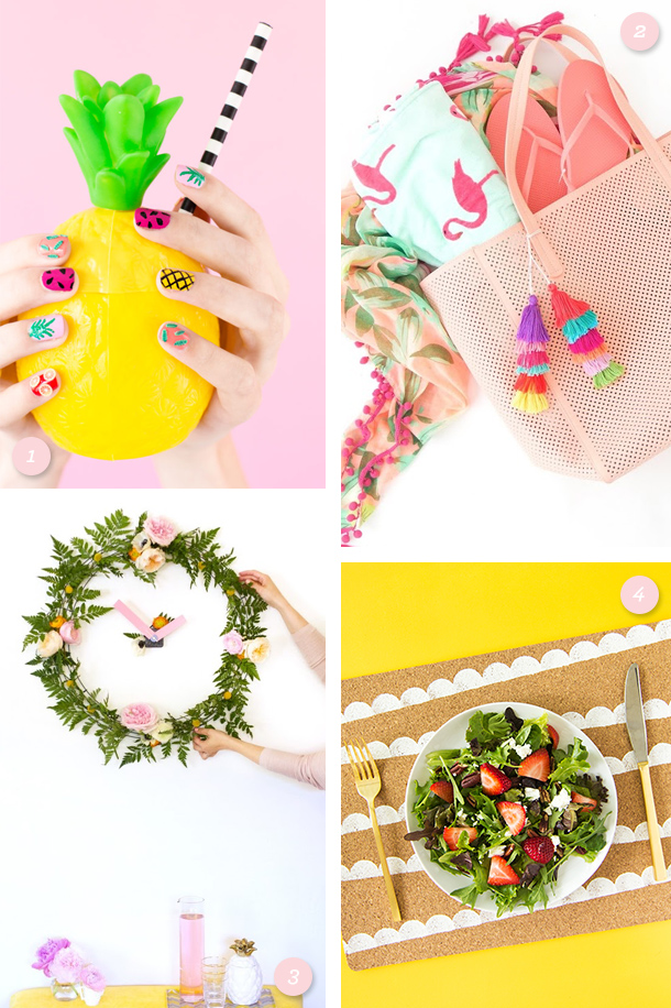 Get ready for summer with these fun, colorful DIY projects! Click through for direct links to each one.