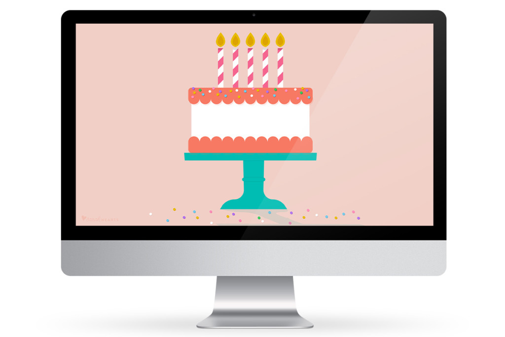 Update your computer, phone or tablet with this free birthday cake wallpaper!