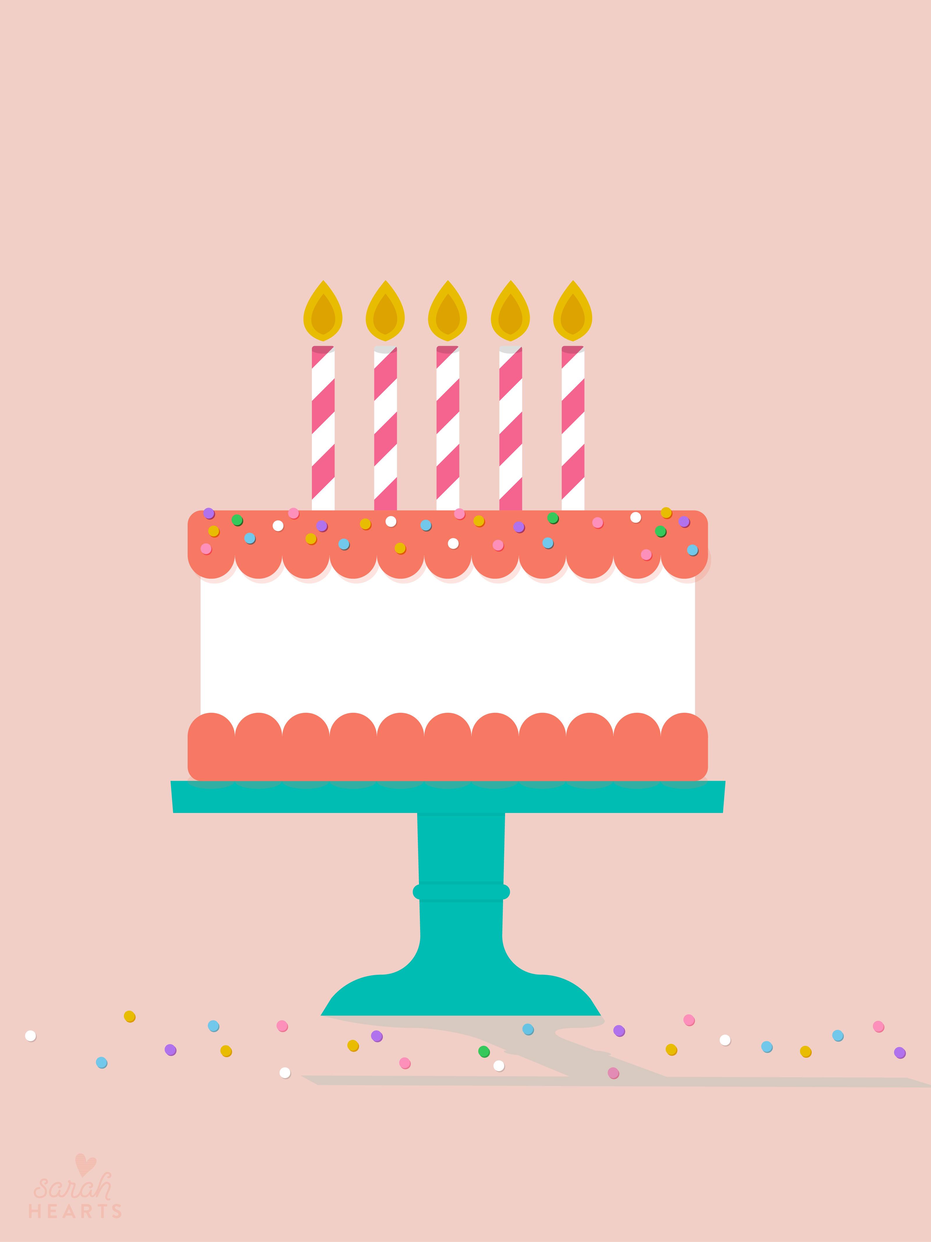 July 2016 Birthday Cake Calendar Wallpaper Sarah Hearts