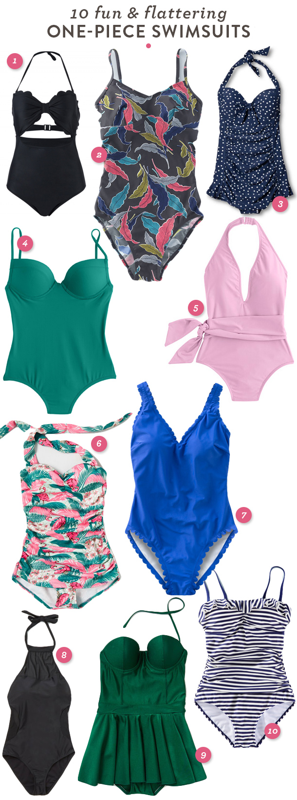 10 great fun and flattering one-piece swimsuits that you'll love to wear this summer