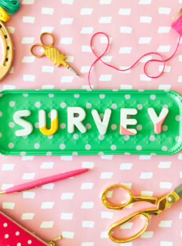 Love reading the blog Sarah Hearts? Please take a minute to complete the reader survey to help shape upcoming projects, recipes, and printables!
