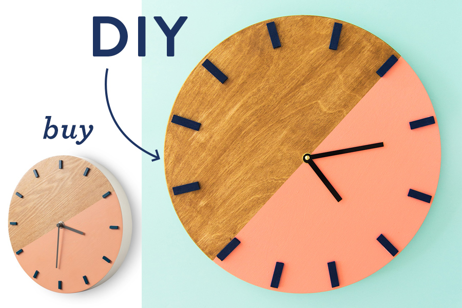 DIY Colorblock Wall Clock Sarah Hearts