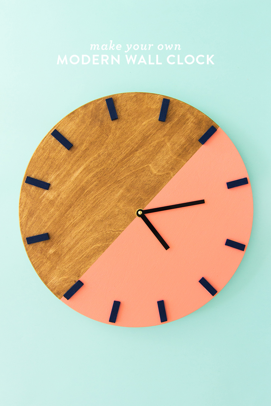 DIY Colorblock Wall Clock