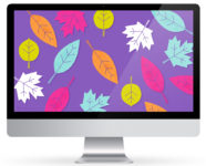 October 2016 Fall Leaves Calendar Wallpapers