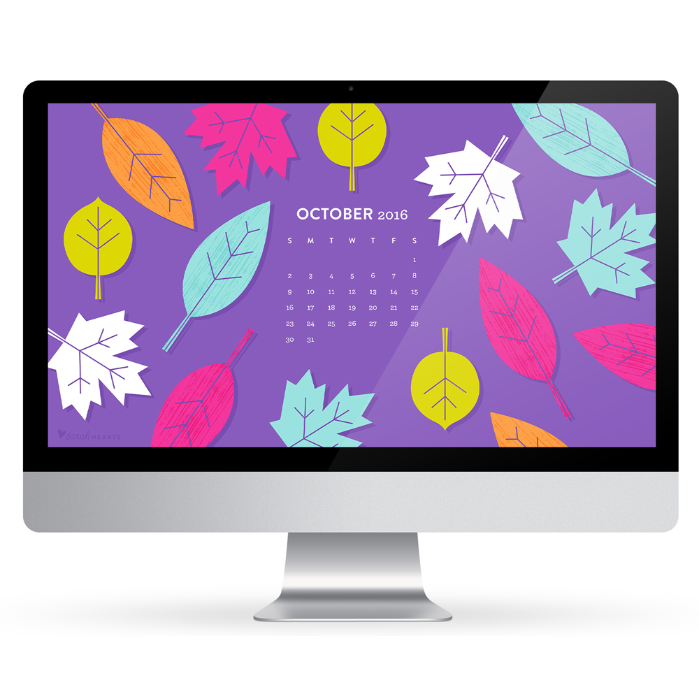 Wallpaper Calendar Oct : October fall leaves calendar wallpapers sarah hearts