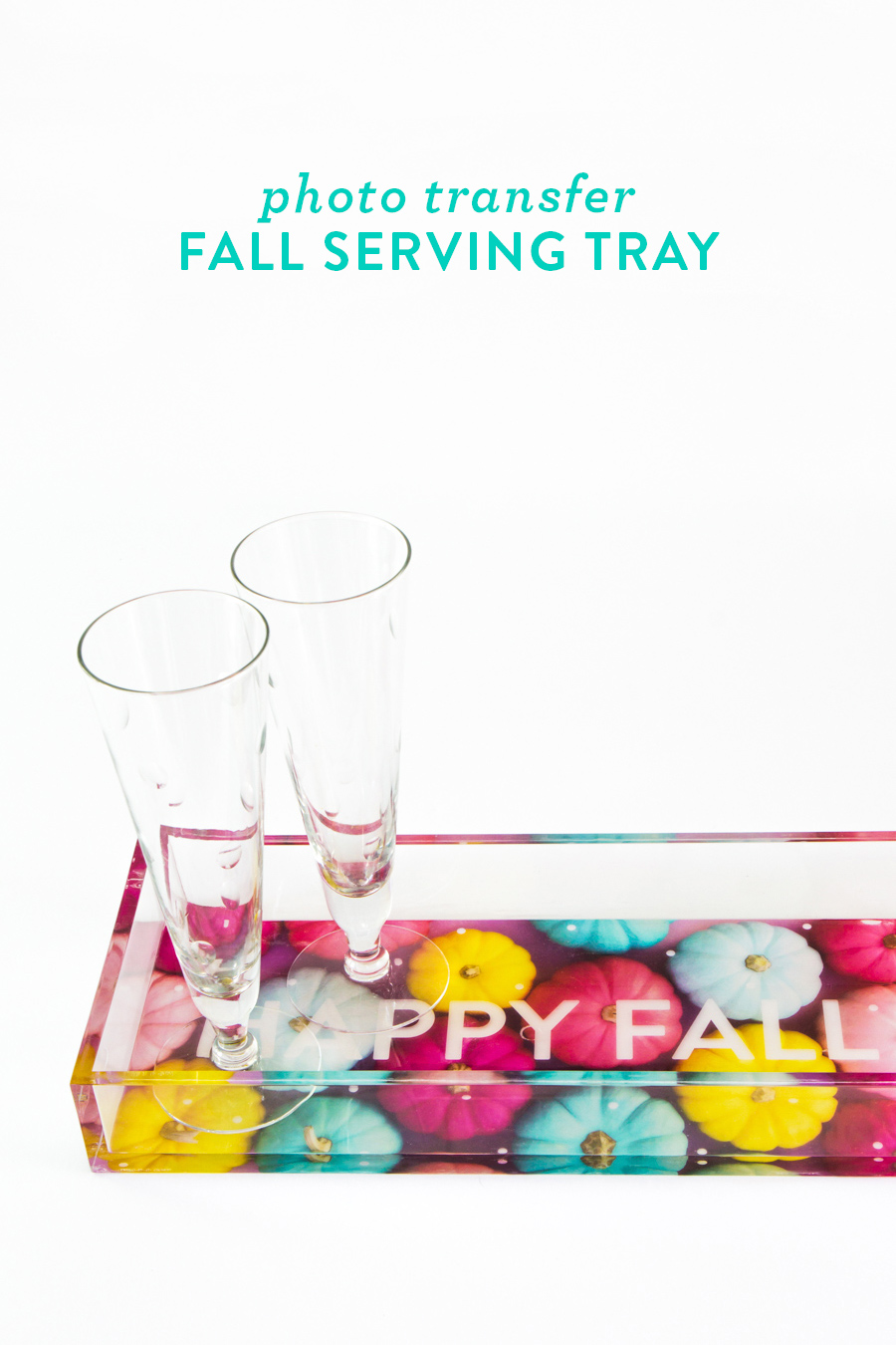 Happy Fall! See how to transform one of your own photos into a a stylish serving tray!