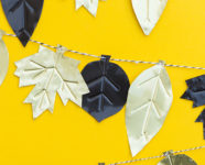DIY Metal Fall Leaf Garland