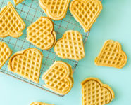 Homemade Waffle Maker Cookies in Scandinavian Gatherings