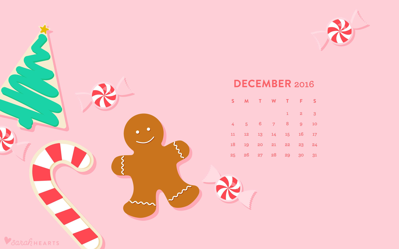 Calendar Wallpaper Quilling : December christmas cookie calendar wallpaper sarah