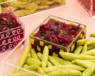 Fresh Cranberry Salsa and DIY Patterned Acrylic Food Trays