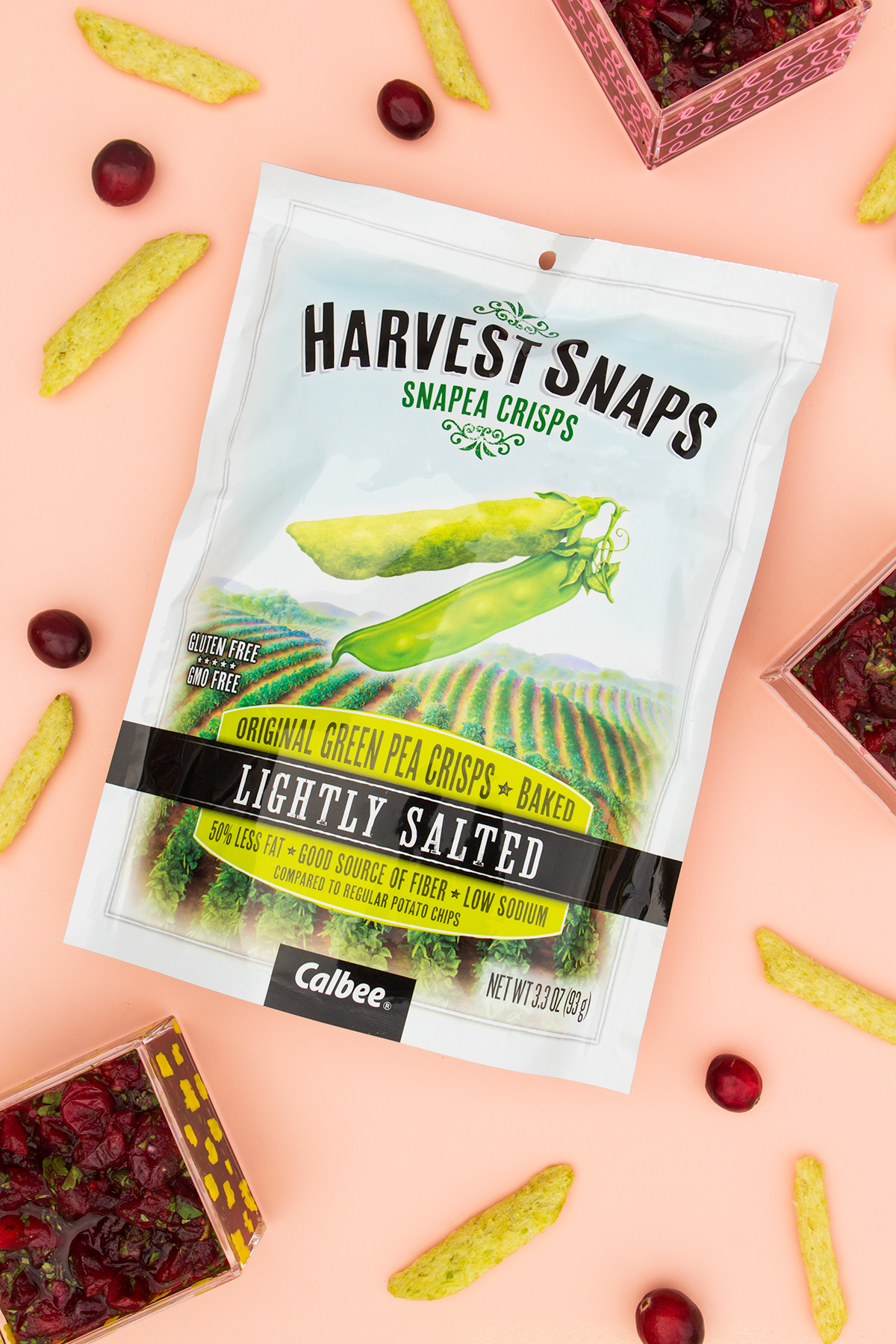 Serve this sweet and savory fresh cranberry salsa with @HarvestSnaps at your holiday party! #harvestsnapslove