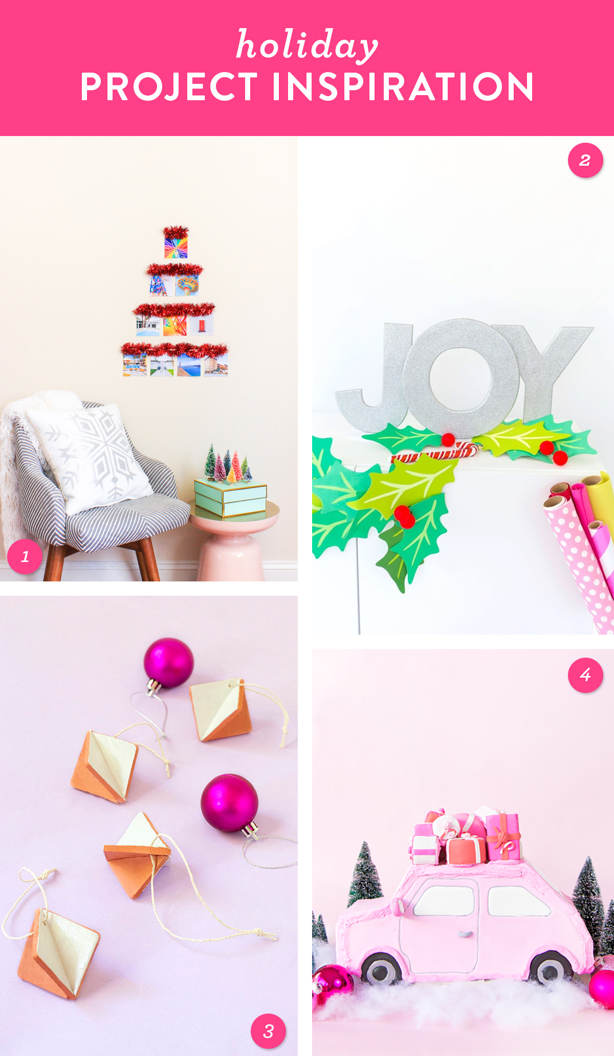 Get your home ready for the holidays by creating on of these fun and festive DIY projects!