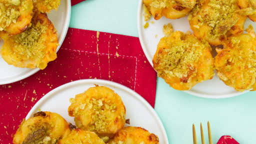 These mac and cheese bites are the perfect kid-friendly party appetizer!