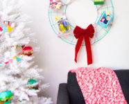 DIY Holiday Card Wreath and Photo Cards
