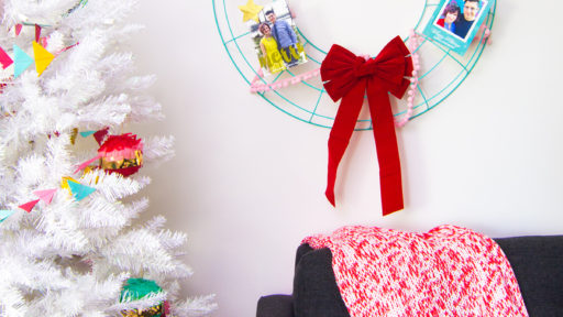 Don't stuff your holiday cards in a drawer, display them this season on a easy to make card wreath!