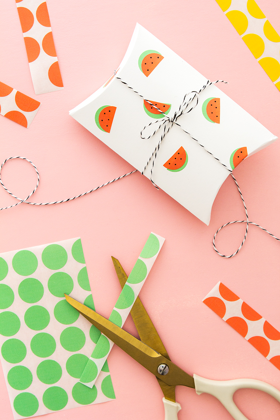 Use office color coding labels to create adorable watermelon stickers! See this and 9 other reader favorite project of 2016.