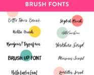 Favorite Brush Fonts