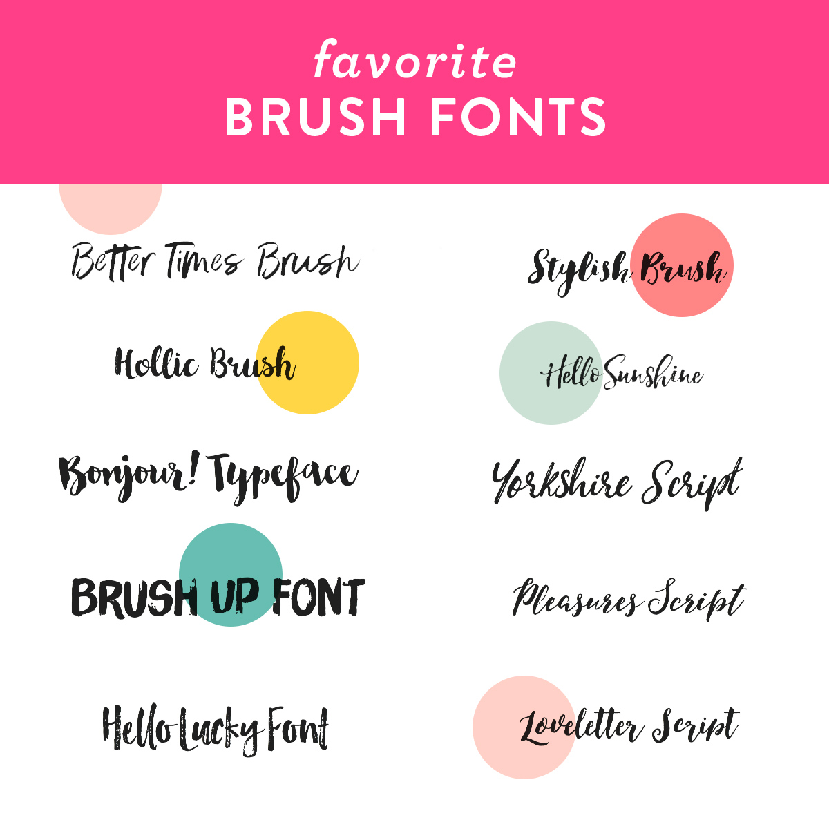 Make unique business cards, stationery, valentines and more using these beautiful brush fonts!