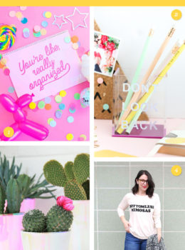 Start your year off right with one of these easy and oh so pretty DIY projects! (Click through for links to each one)