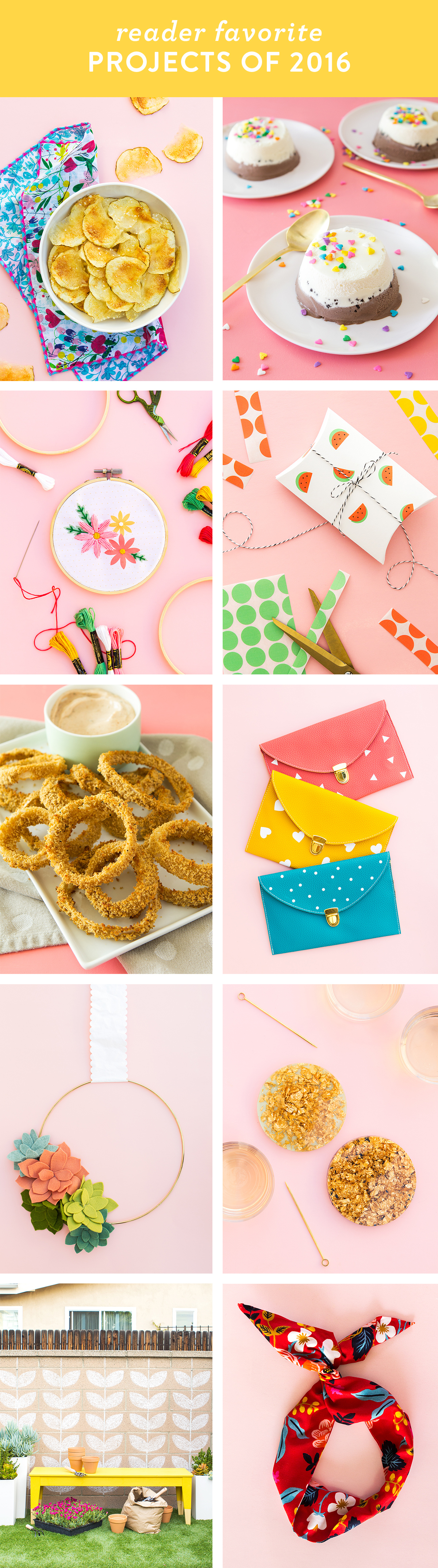 See what 10 recipes and DIY projects were reader favorites in 2016!