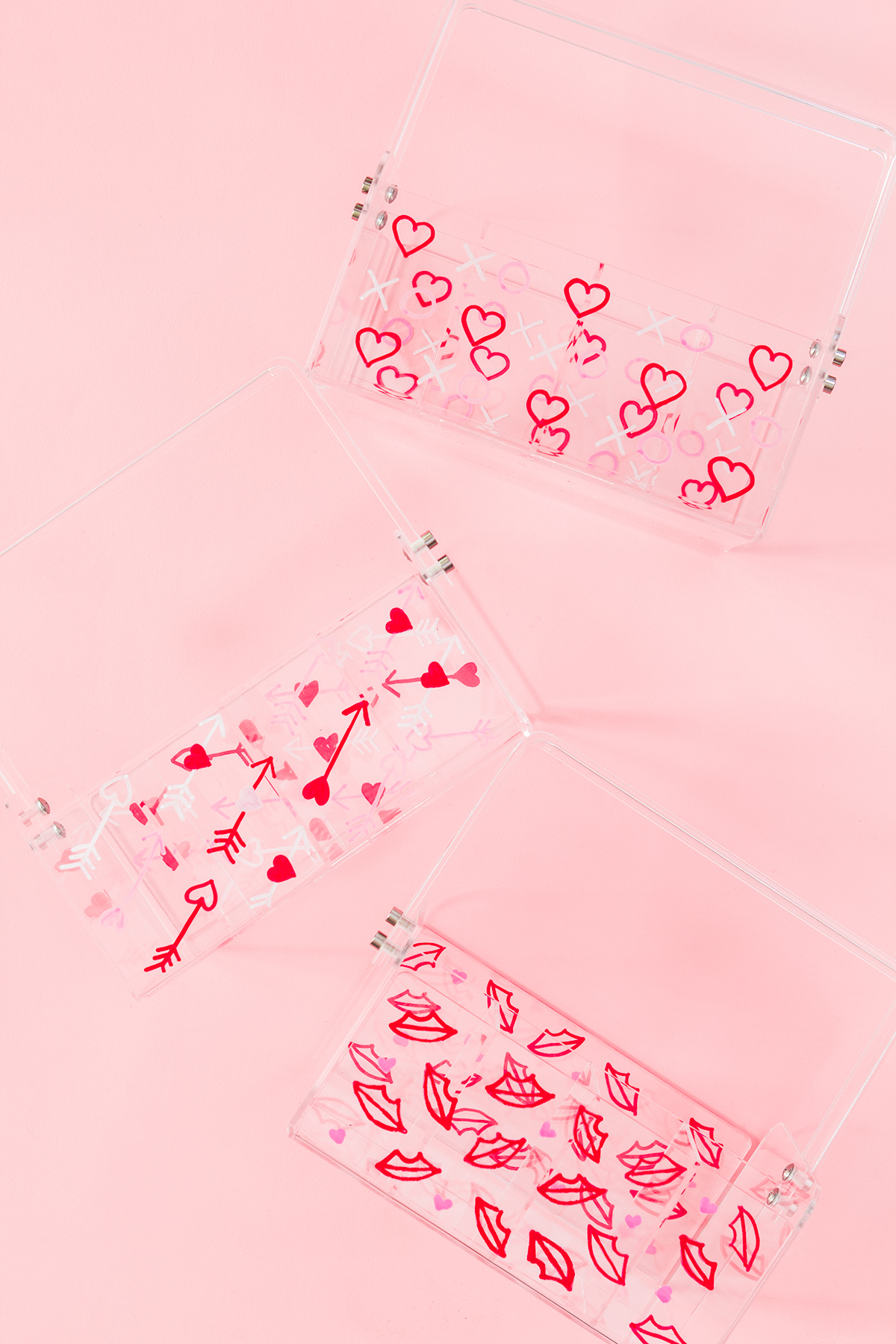 Make Valentines special for your galentines! Dress up acrylic totes with cute valentines patterns and fill them with fun treats!