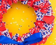 DIY 4th of July Patriotic Napkin Wreath