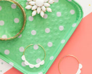 DIY Scalloped Statement Hoop Earrings