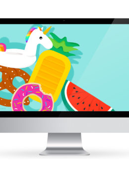 Add a splash of summer to your phone, computer and tablet with this free pool float wallpaper!