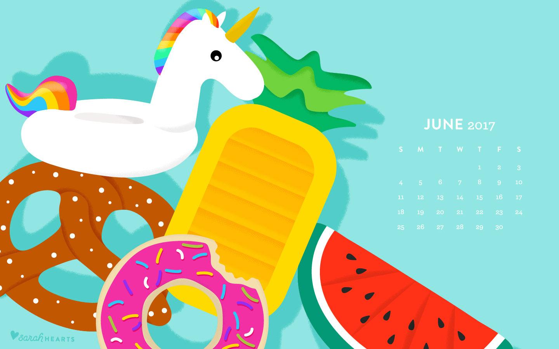 june 2017 pool float calendar wallpaper sarah hearts