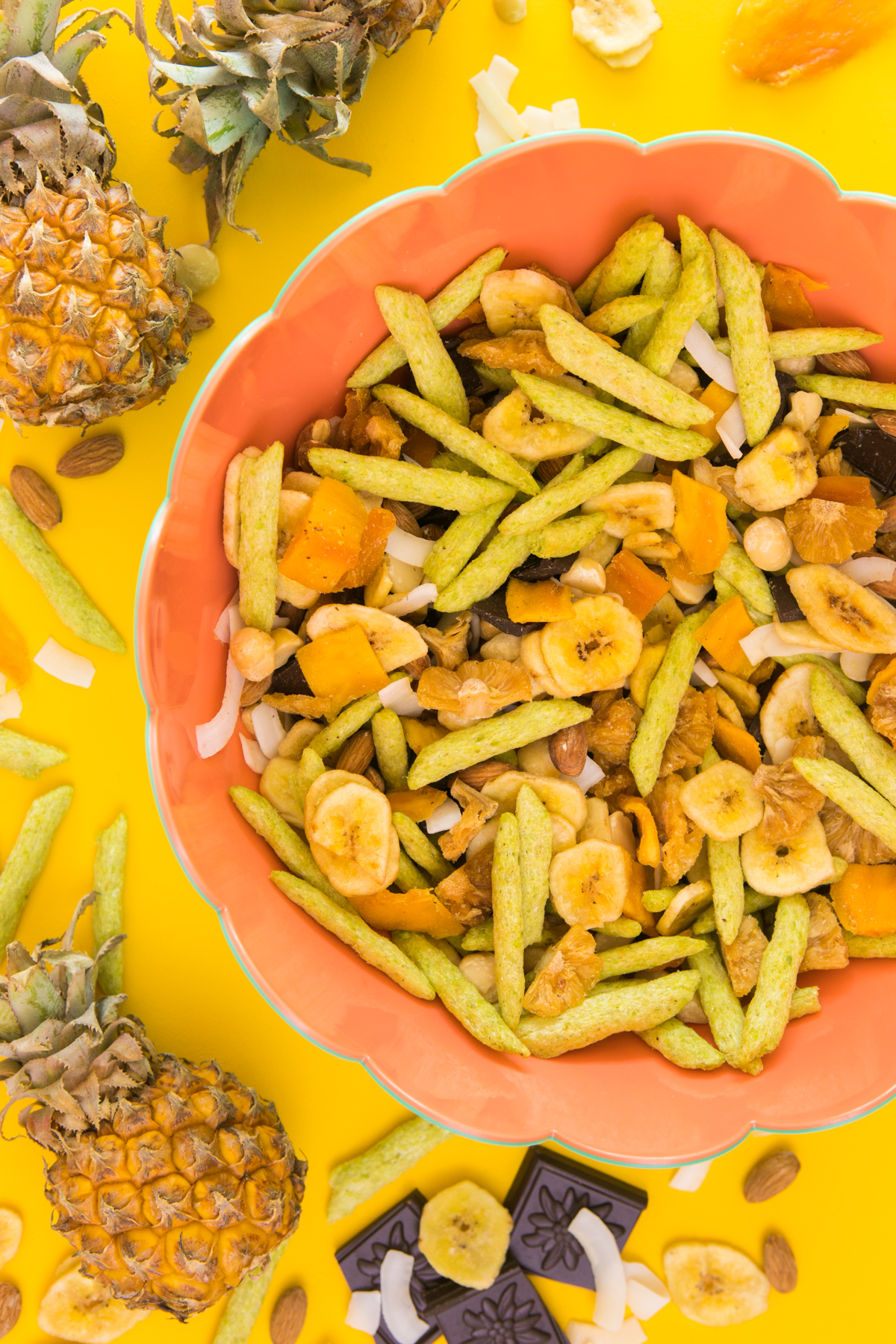 Salty, sweet and a taste of the tropics! You're going to love this homemade tropical trail mix.