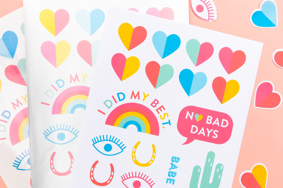 diy printable rainbow sticker sheets sarah hearts