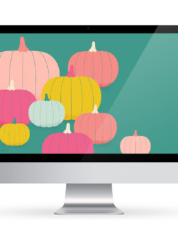 Celebrate fall with this free colorful pumpkin wallpaper. Available for computers, tablets and iPhones.