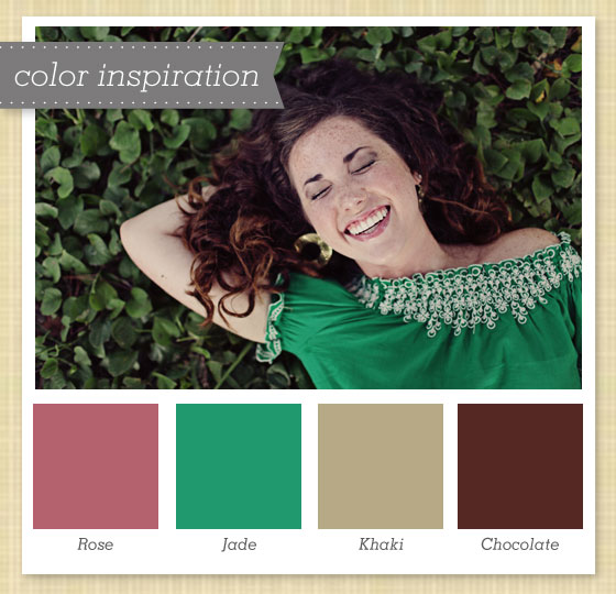 Pink Green Tan Brown Color Palette 26