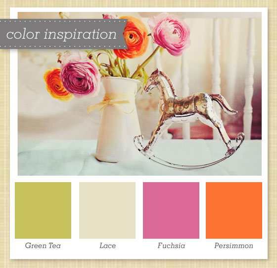 Green Tan Pink And Orange Color Palette 48