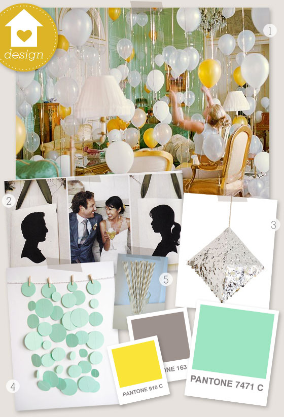 Mint Green And Yellow Party Board
