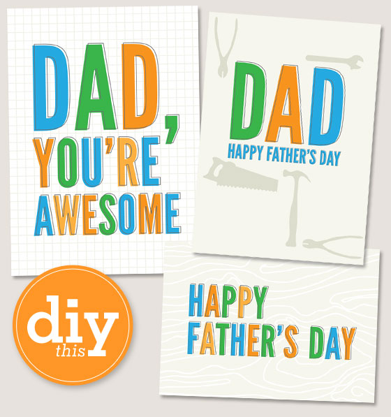 fathers day printables cards - 560×597